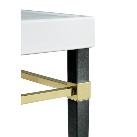 shop kohler black leather square tapered gold metal