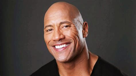 full hd wallpaper dwayne johnson bald smile brown eyes