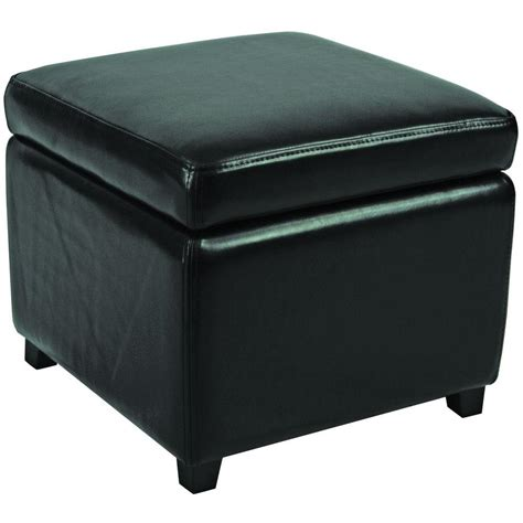 safavieh ottomans safavieh jonathan black storage ottoman hud4007b the