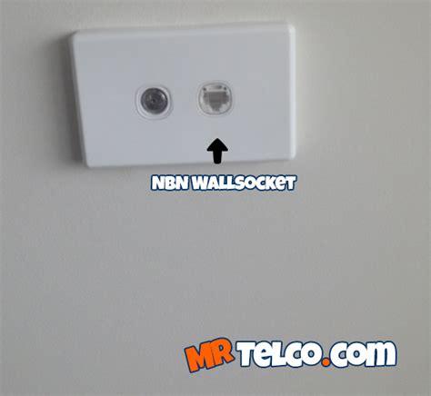 nbn wall socket for phone modem need installation