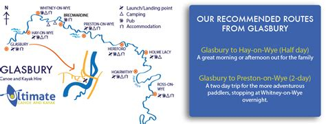 thames river paddling routes glasbury to preston on wye canoe and kayak hire