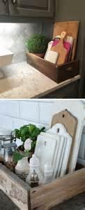 farmhouse style kitchen storage  wood crates amazing
