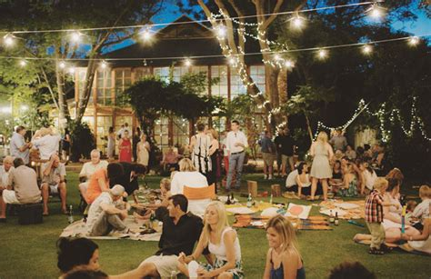 Backyard Engagement by Backyard Picnic Wedding Arlene Jake Green Wedding