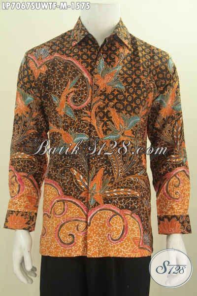 Baju Batik Pejabat Wanita hem batik premium bahan baju batik pejabat berkelas model lengan panjang motif mewah
