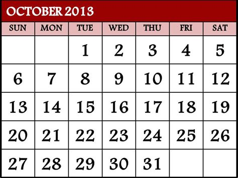 Calendar October 2013 October Roundup What Does It Take To Get Technology To