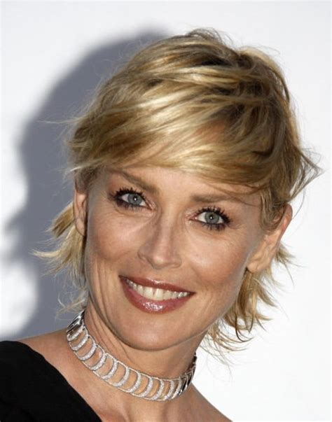 Sharon Stone Hairstyles Cutting Diagram