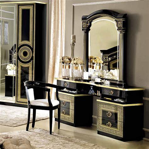 Ornate Vanity Mirror Sale 1156 00 Aida Vanity Dresser And Mirror In Black