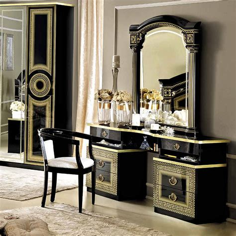 Chandeliers And Mirrors Online Sale 1156 00 Aida Vanity Dresser And Mirror In Black