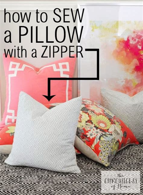 How To Sew Pillow Covers With Zippers by How To Sew A Pillow With A Zipper How To Sew Zippers