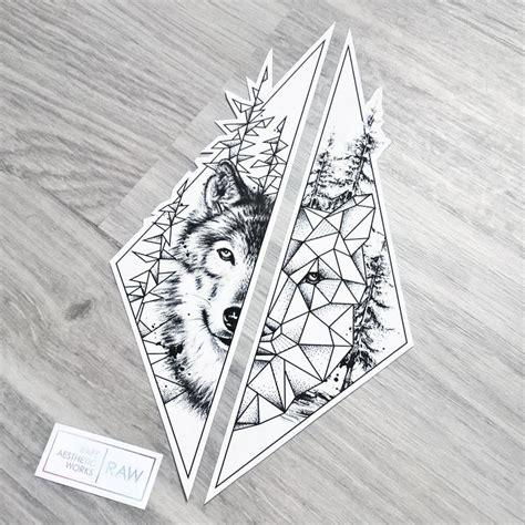 wolf tattoo half geometric 25 best ideas about geometric wolf tattoo on pinterest