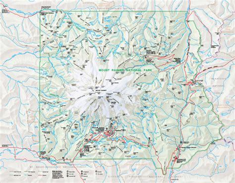 mt rainier national park map mt rainier national park map pdf my