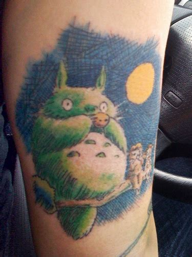 my neighbor totoro tattoo totoro sitting on the branch hawaii kawaii