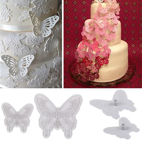 8914 Fondant Butterfly Mold Cake Cutter Cookies Decorating Gumpaste 2x new butterfly cake fondant decorating sugarcraft cookie cutters mold mould ebay