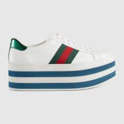 leather platform sneaker gucci s sneakers