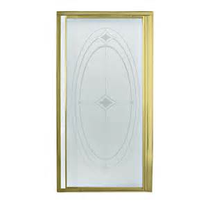lowes shower door shop sterling polished brass framed pivot shower door at