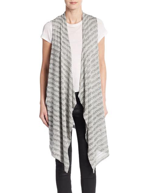 grey knit vest lyst bobeau knit stripe vest in gray