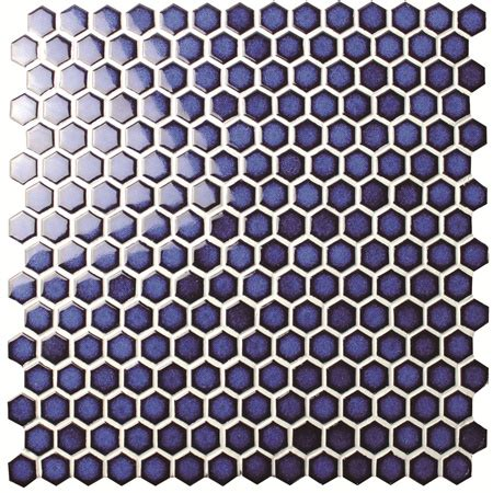 Lu Bulat hexagon blue bcz606 mosaic tile ceramic mosaic