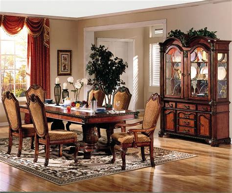 warm brown formal dining room sets for 8 with glass door furniture stores kent cheap furniture tacoma lynnwood