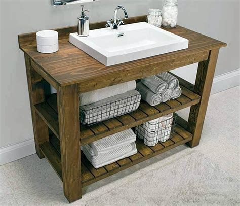 Rustic Chic Bathroom Vanity by Free Bathroom Album Of Rustic Bathroom Vanity Plans With