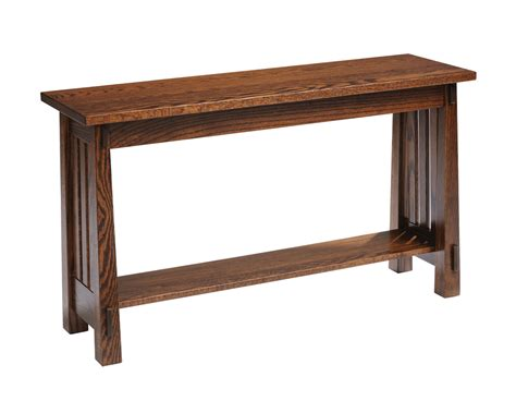 Sofa Table by Country Mission Sofa Table Amish Furniture Designed