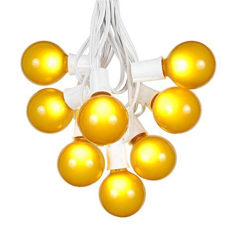 g50 christmas light bulbs 100 yellow g50 globe string light set on white wire