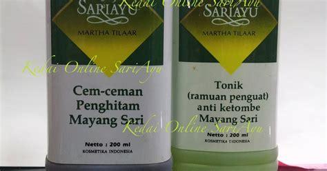 Scrub Mustika Ratu Malaysia kedai sariayu tonik rambut dan minyak rambut