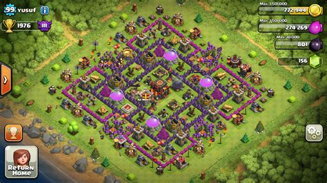 coc layout to protect resources town hall 10 clash of clans ad mortem