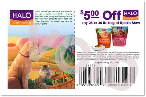 halo cat food printable coupons halo coupons for may all dog blog