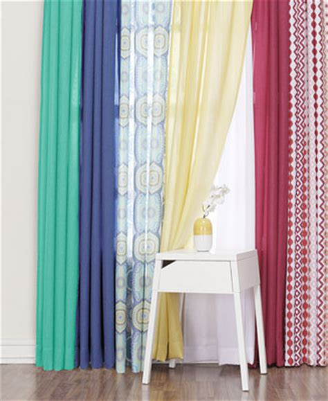 Macys Kitchen Curtains Lichtenberg Heathered Semi Sheer Curtain Collection Window Treatments For The Home Macy S