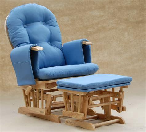 modern glider rocking chair in blue plushemisphere