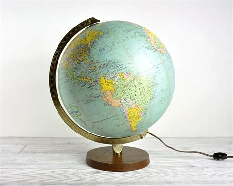 vintage illuminated world globe light globe l by