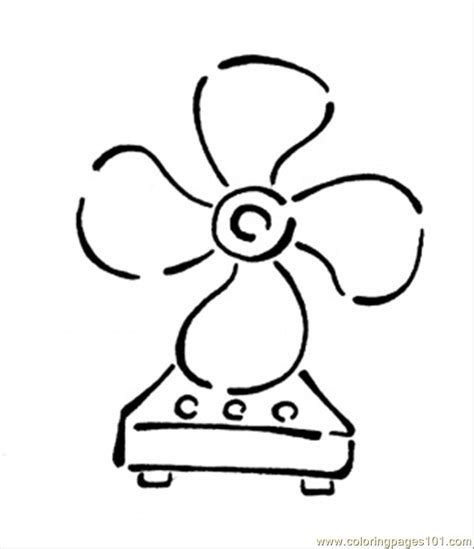 coloring pages fan technology gt home appliances free