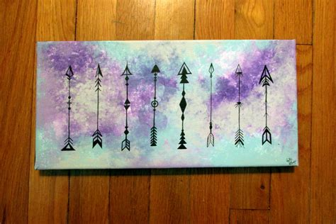 acrylic paint tie dye canvas tie dye and arrows acrylic ink canvas painting 14x7