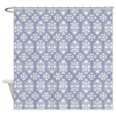 victorian lace shower curtains victorian blue lace damask shower curtain by admin cp29858701