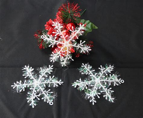hot snow snowflake christmas ornaments white christmas tree window decorations snowflake home