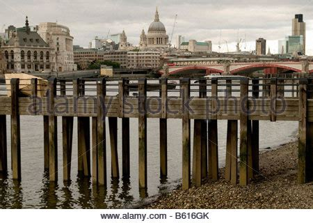 river thames jetties wooden jetty on the river thames at gravesend kent uk