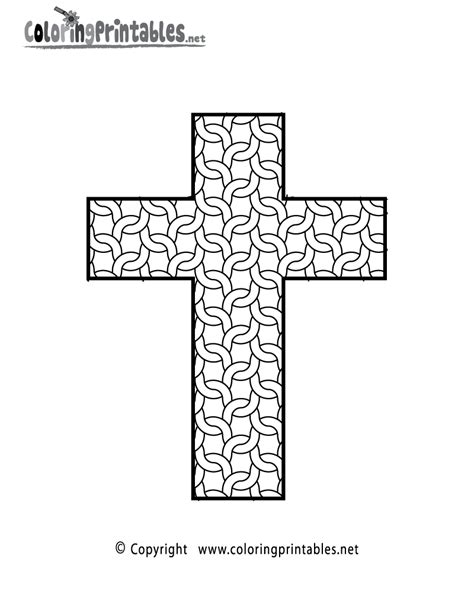 complex cross coloring page a free adult coloring printable