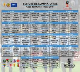 Calendario Eliminatorias Colombia 2018 Horarios Calendario Eliminatorias Sudamericanas Mundial Rusia 2018