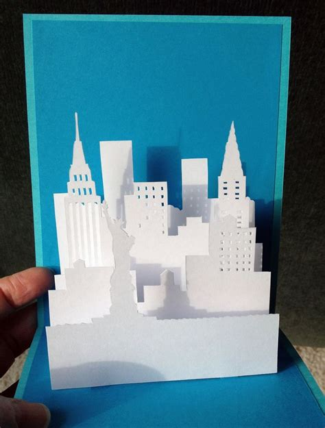 firework pop up card template new york pop up card template from paysages en pop up
