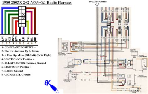 280zx stereo wiring diagram stereo wire wiring diagram