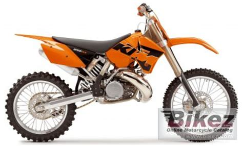 2005 Ktm 250sx 2005 Ktm 250 Sx Specifications And Pictures