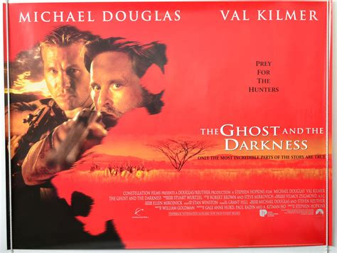 film ghost of the darkness the ghost and the darkness 1996 cinema quad film poster