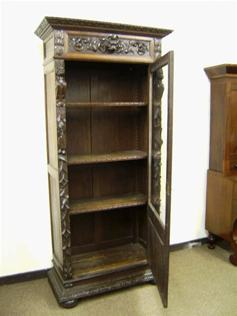 antique bookshelves for sale 19th century carved oak bookcase with lions heads c1850