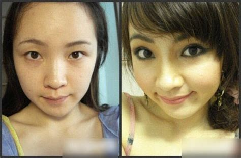 Eyeshadow Inez No 10 with without their makeup chinasmack