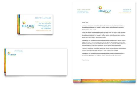 Business Letter Sle For Travel Agency Mexico Travel Business Card Letterhead Template Design