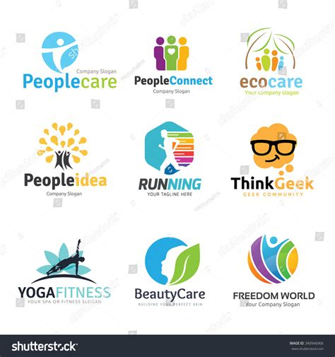 kid education logo stock photos image 32631433 logo collection set people idea kids stock vector