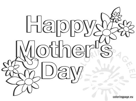 happy mothers day coloring page happy s day flowers coloring page