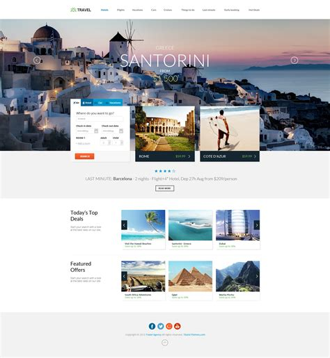 themeforest travel agency travel agency travel online hotel booking by