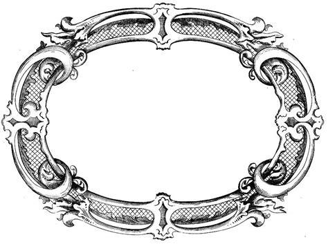 vintage clip art french label anchor round frame vintage fancy border clipart