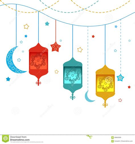 ramadan pattern vector free ramadan kareem with ls crescents and stars